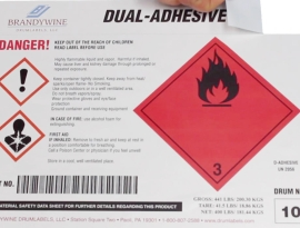 Patents granted in 1997 and 1999 for coating two adhesives on a label